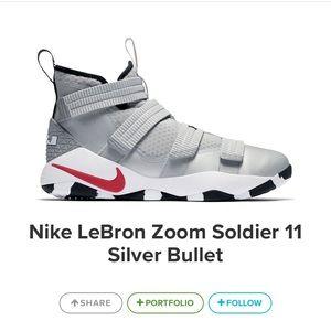 Lebron soldier 11 silver bullet